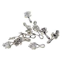 12pcs Blume Prise Anhänger Kautionen Für Schmuckherstellung Perlen