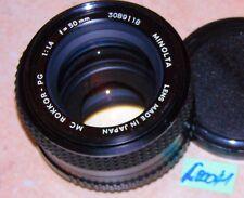 MINOLTA OBJEKTIV ; 50mm; 1:1.4  MC-ROKKOR-PG (L00041)