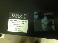 1 2-sided Static-X start a war Promo Sticker album poster vintage rock music