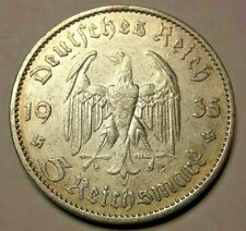 Third III Reich, 5 Reichsmark, 1935, Munich, TTB  KM# 83, J# 357, Schön# 83