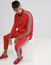 Nike Scotchée Poly Veste de Survêtement et Pantalon Rouge Bleu Taille Hommes a79104fbc84