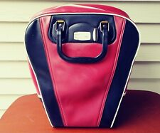 Vintage Bowling Ball Bag Carrier Craft Purse Steampunk Case Vinyl Red Black