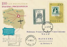 Poland postmark OLSZTYN - 100 years Polish stamp Par Avion