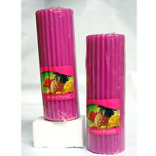 "Scented Candles Pink 6"" Pillars, 6 Piece American Greetings Island Punch"