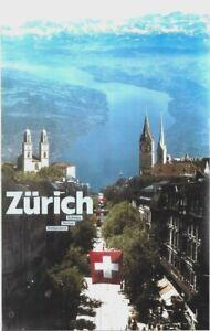 Original vintage poster ZURICH SWISS METROPOLE CITY & LAKE c.1980