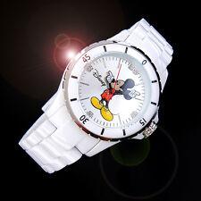 Walt Disney Princess Mickey Mouse Men Women Unisex Fashion White Wrist Watch