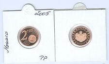 Monaco 2 Cent 2005 PP Seulement 40.000 Pièce