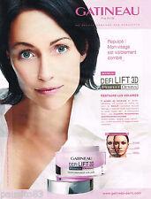 PUBLICITE ADVERTISING 065  2008  JEANNE GATINEAU   cosmétiques cremes DEFI LIFT