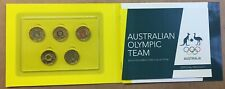 2016 Royal Australian Mint Olympic $2 Coloured Coins Set of 5 Uncirculated.