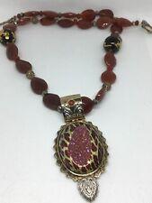 Beads Sterling Brass Necklace Akr Vintage Amy Kahn Russell Carnelian Dragon