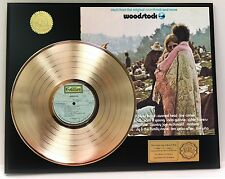 WOODSTOCK GOLD LP RECORD LIMITED EDITION DISPLAY