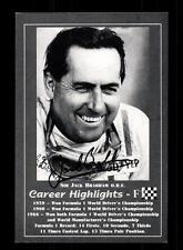 Jack Brabham Autogrammkarte Original Signiert Formel 1 +A 153263