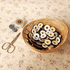 Vintage Cardboard Bobbins   Nylon Sewing Thread   Ephemera   Mixed Set of Ten