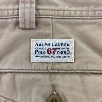 Ralph Lauren POLO Mens Chino Cargo Shorts Sz 42 Khaki Classic 67 Military Pocket