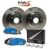 [F] Rotors w/M1 Ceramic Pads OE Brakes Chevy Aveo Spark Pontiac G3 Wave