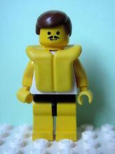 LEGO Minifig par032 @@ Surfboard on Ocean -Brown Hair, Life Jacket 1791 6410