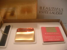 """Estee Lauder Solid Perfume Compact """"Red Sleek & Chic"""" in Original Box w Refill"""