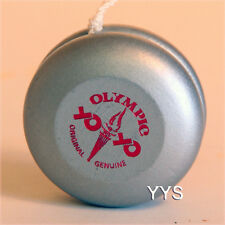 Vintage Collectible Wooden Yo-Yo -National Olympics-Silver with Red