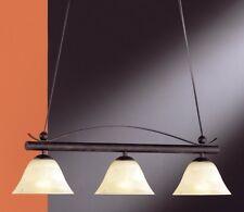 Lustre Style Campagne Lampe pendante Plafonnier Éclairage de salon Verre 4347