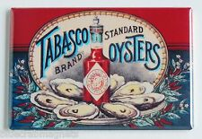 Tabasco Oysters FRIDGE MAGNET (2 x 3 inches) hot sauce label bottle seafood