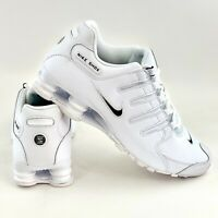 Nike Shox NZ EU White Black Men's Shoes Sneakers Leather Running Shoe 501524 106