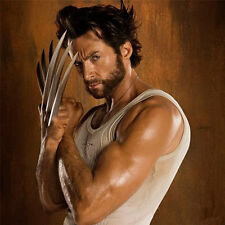 2 PCS Stainless Steel+ Necklace Wolverine Claws Forever Logan Movie Props X-Men
