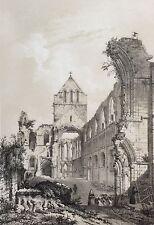 Ruine de l'abbaye de St Sauveur-le-vicomte 1852 Normandie manche