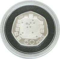 2009 Royal Mint European Presidency 50p Fifty Pence Silver Proof Coin Rare 1992