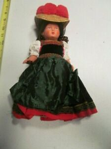 Schildkrot Turtle German Celluloid Doll In Native Costume Approx. 10""