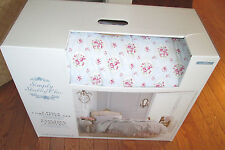 RACHEL ASHWELL Twin Comforter and Sham NEW 1ST QUAL ROSE FLORAL Red pink blue