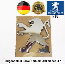 Peugeot 3008 Löwe Embleme Abzeichen Hinten Bonnot Chrom Badge Neu 7810X7