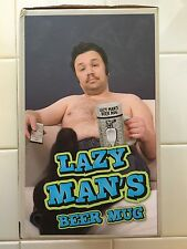 Bigmouth Inc Lazy Man's Beer Mug, White