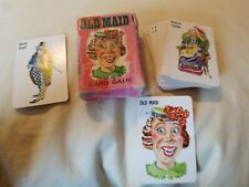 Vintage Used Old Maid Card Game Whitman Small Miniature Western Publishing Cards
