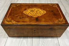 Large Antique Flame Walnut Writing Slope With Secret Drawers Inlaid Stunning