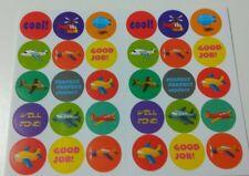 Boys 30 REWARD STICKERS x1 sheet; bright colours, fun & colourful  SMALL