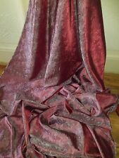 """3 M Due Tonalità Rosso Scuro Paisley Print Dress/fodera in tessuto broccato 58"""""""