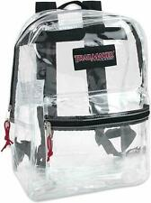 Clear Backpack Pvc Plastic Heavy Duty Bag School Office Travel Security