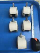 White office chair caster wheels replacement set of 5 IKEA