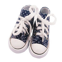 Blue Lovely Handmade High Top Canvas Shoes for 1/3 BJD 24inch Doll Shoes