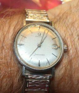 Vintage OMEGA SEAMASTER Mechanical Wind  Stainless Steel Wristwatch Runs