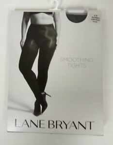 Lane Bryant Size A/B Pale Grisaille Super Opaque Smoothing Tights Gray       B69