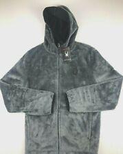 Spyder Mens XL Gray Alloy Musa Sherpa Fleece Full Zip Hooded Jacket NWT $89