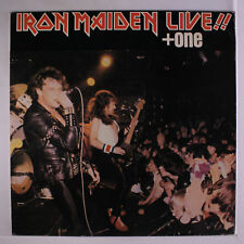 IRON MAIDEN: Iron Maiden Live!! + One LP (Greece, original w/ titles in English