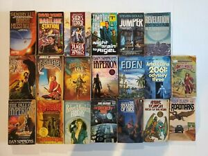 Vintage Science Fiction Paperback Books Lot of 20