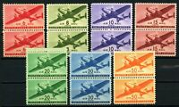 USAstamps Unused VF US Airmail Planes Complete Pair Set Scott C25-C31 OG MNH