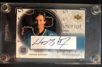 2003 Upper Deck Wayne Gretzky Script Three Legend Trilogy Autograph #S3-GR Mint