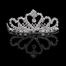 Flower Rhinestone Bridal Tiara W/ Comb Pin for Wedding/prom AD L2