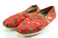 Toms Women's Casual Slip-on Shoes Size 7 Orange Umbrellas