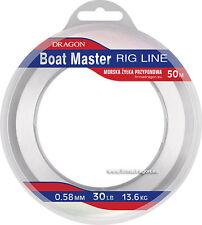 Linea barca MASTER Rig Linea 50m, 90LB, 40.9 KG gestione pesca in mare affrontare
