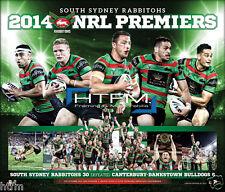 2014 NRL Premiers South Sydney Rabbitohs Deluxe Print Greg Inglis Sam Burgess
